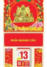 Bìa Treo Lịch Lò Xo Giữa Bế Nổi (37 x 68 Cm) Gắn Bloc Lịch 2021 - Phát Tài Phát Lộc - KV228