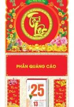 Bìa Treo Lịch Lò Xo Giữa Bế Nổi (37 x 68 Cm) Gắn Bloc Lịch 2021 - Tài Lộc - KV232