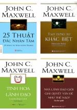 Combo John C. Maxwell: Nhà Lãnh Đạo Giỏi Giải Quyết Vấn Đề Như Thế Nào + Tinh Hoa Lãnh Đạo + Tạo Dựng Sự Khác Biệt + 25 Thuật Đắc Nhân Tâm (Bộ 4 Cuốn)