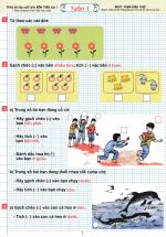 Phiếu Bài Tập Cuối Tuần Môn Toán Lớp 1 (Theo Chương Trình Tiểu Học Mới)