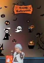 Decal Trang Trí Halloween Rùng Rợn Combo 5