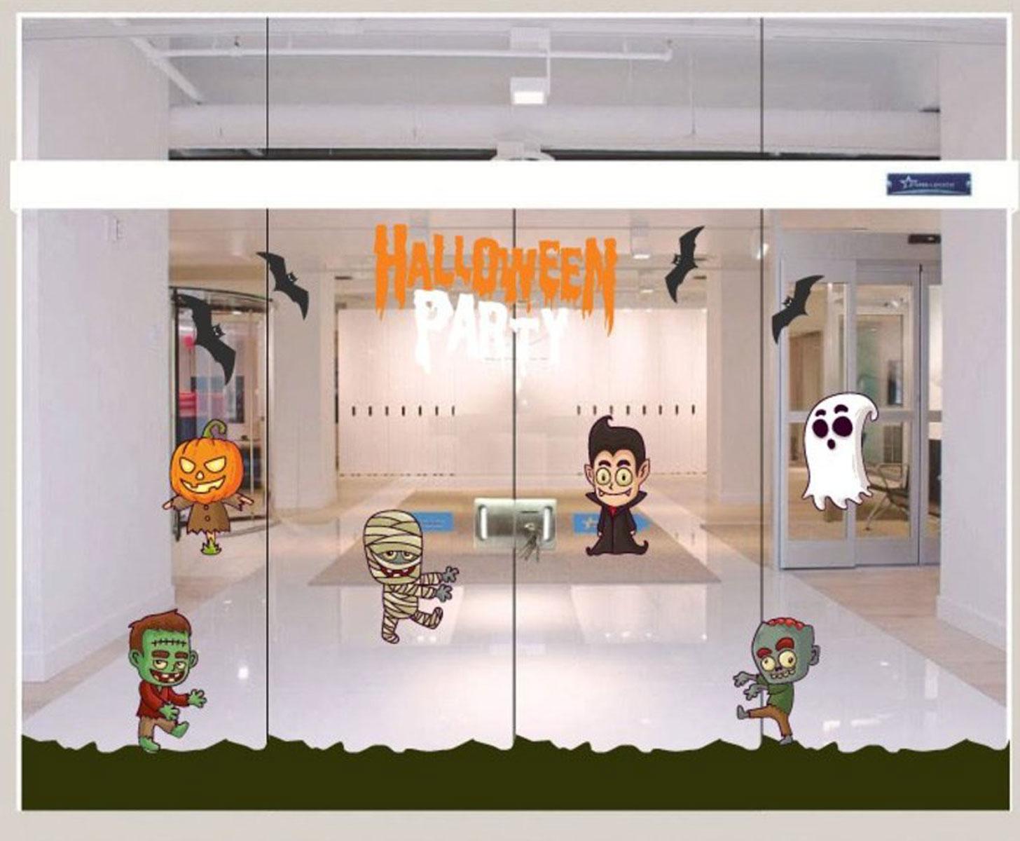 Decal Trang Trí Halloween Rùng Rợn Combo 9