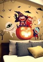 Decal Dán Tường Halloween Bí Ngô Đáng Yêu