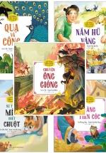Combo Cổ Tích Việt Nam Cho Bé Mẫu Giáo - Chuyện Ông Gióng + Nàng Tiên Cóc + Sự Tích Mèo Ghét Chuột + Năm Hũ Vàng + Quạ Và Công (Bộ 5 Cuốn)