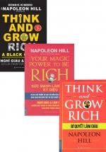 Bộ Sách Hay Của Napoleon Hill: Think And Grow Rich - Bí Quyết Làm Giàu + Your Magic Power To Be Rich - Sức Mạnh Làm Giàu Kỳ Diệu + Think And Grow Rich - Sự Lựa Chọn Của Người Da Màu (Bộ 3 Cuốn)