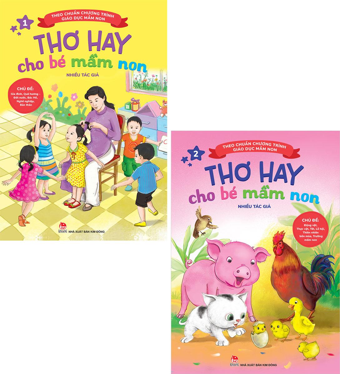 Combo Thơ Hay Cho Bé Mầm Non - Tập 1 Và 2 (Bộ 2 Tập)