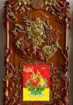 Tranh Đốc Lịch Gỗ Hương Ông Thần Tài 03 Treo Tường Cao Cấp + Tặng Kèm Bloc Đại Giá 85.000đ