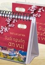 Lịch Để Bàn Chữ A 2021 (11x13 Cm) - Suối Nguồn An Vui ( Đạt Lai Lạc Ma )