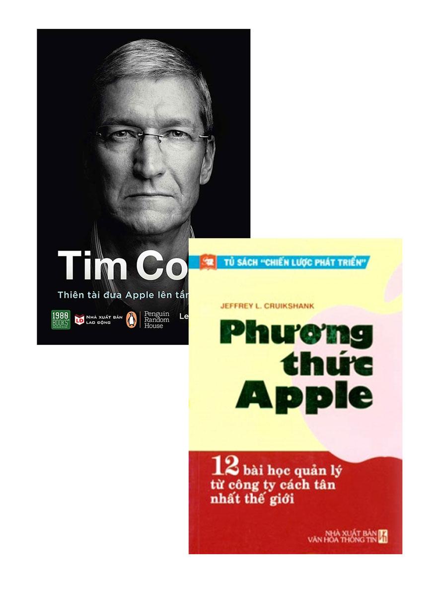 Combo Phương Thức Apple + Tim Cook - Thiên Tài Đưa Apple Lên Tầm Cao Mới (Bộ 2 Cuốn)