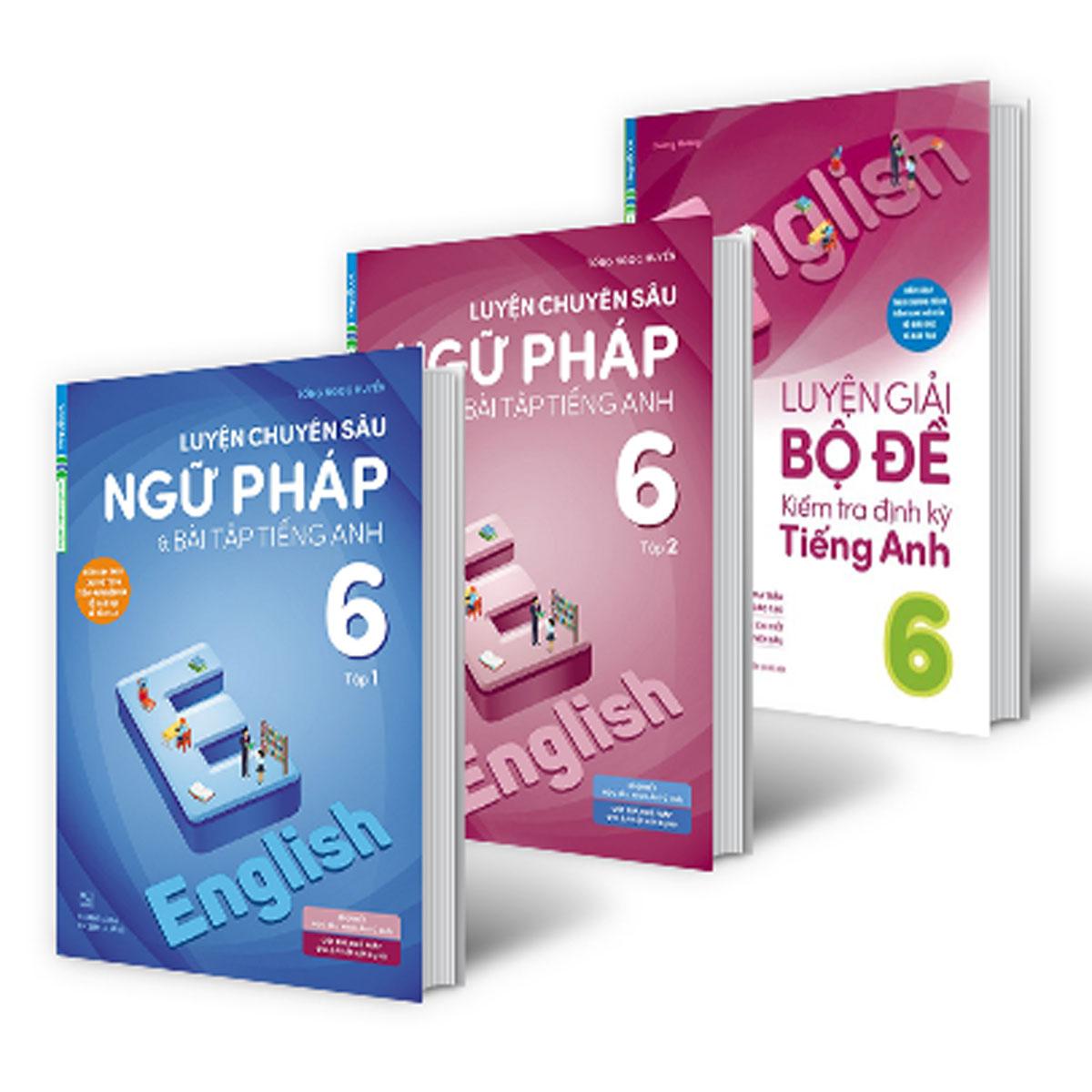 Combo Chinh Phục Điểm Cao Tiếng Anh Lớp 6 (Bộ 3 Cuốn)