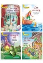 Bộ Truyện Song Ngữ Anh - Việt Dành Cho Trẻ Từ 3 Tuổi: Công Chúa Tóc Mây + Hoàng Tử Ếch + Con Cá Vàng + Con Sói Và Bảy Chú Dê Con (Bộ 4 Cuốn)