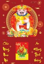 Bìa Laminate 2021 (40 X 60 Cm) - Ông Thần Tài + Tặng Kèm Bloc Đại Giá 85.000đ