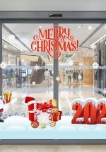 Combo Decal Trang Trí Merry Christmas 2021 (Bộ 7 Tấm)