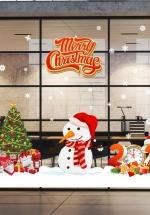 Combo Decal Trang Trí Merry Christmas Và Hộp Quà 2021 (Bộ 6 Tấm)