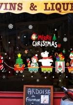 Decal 2 Mặt Trang Trí Noel Ông Già Noel Và Đoàn Tàu 2