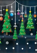 Decal 2 Mặt Trang Trí Noel Cây Thông Xanh