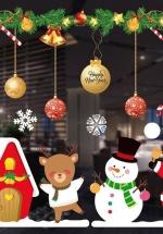 Decal Trang Trí Noel Santa Người Tuyết Và Tuần Lộc Mẫu 3
