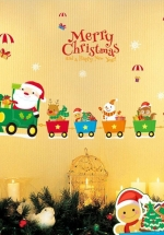 Decal Trang Trí Noel Xe Lửa Giáng Sinh