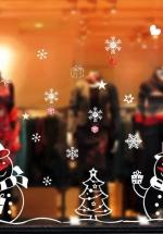 Decal Trang Trí Noel Người Tuyết Và Quà Noel