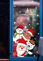 Decal Trang Trí Noel Santa Người Tuyết Tuần Lộc Và Gấu Trắng