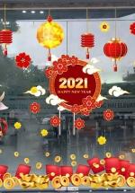 Combo Decal Trang Trí Tết Tân Sửu 2021