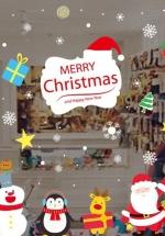 Decal Trang Trí Noel Bảng Merry Christmas Và Những Người Bạn