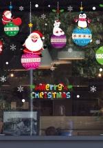 Decal Trang Trí Noel Quả Châu Và Những Người Bạn Noel