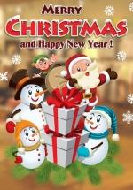 Decal Trang Trí Ông Già Noel Và Những Người Bạn 3