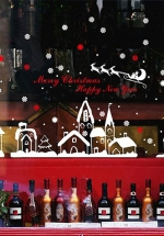 Decal Trang Trí Noel Thành Phố Tuyết 3