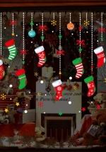 Decal 2 Mặt Trang Trí Noel Dây Treo Vớ Noel 2