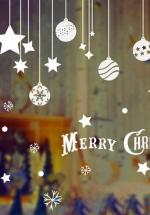 Decal Dây Treo Quả Cầu Noel Và Sao 5 Cánh