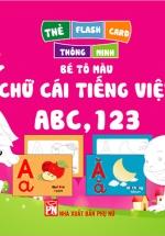 Thẻ Flashcard Thông Minh - Bé Tô Màu Chữ Cái Tiếng Việt ABC, 123