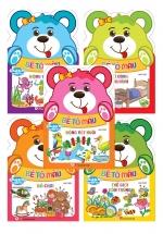 Combo Gấu Con Khéo Tay: Bé Tô Màu (Bộ 5 Cuốn)