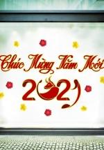 Decal Trang Trí Tết Chúc Mừng Năm Mới 2021