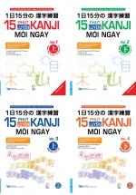 Combo 15 Phút Luyện Kanji Mỗi Ngày (Bộ 4 Cuốn)