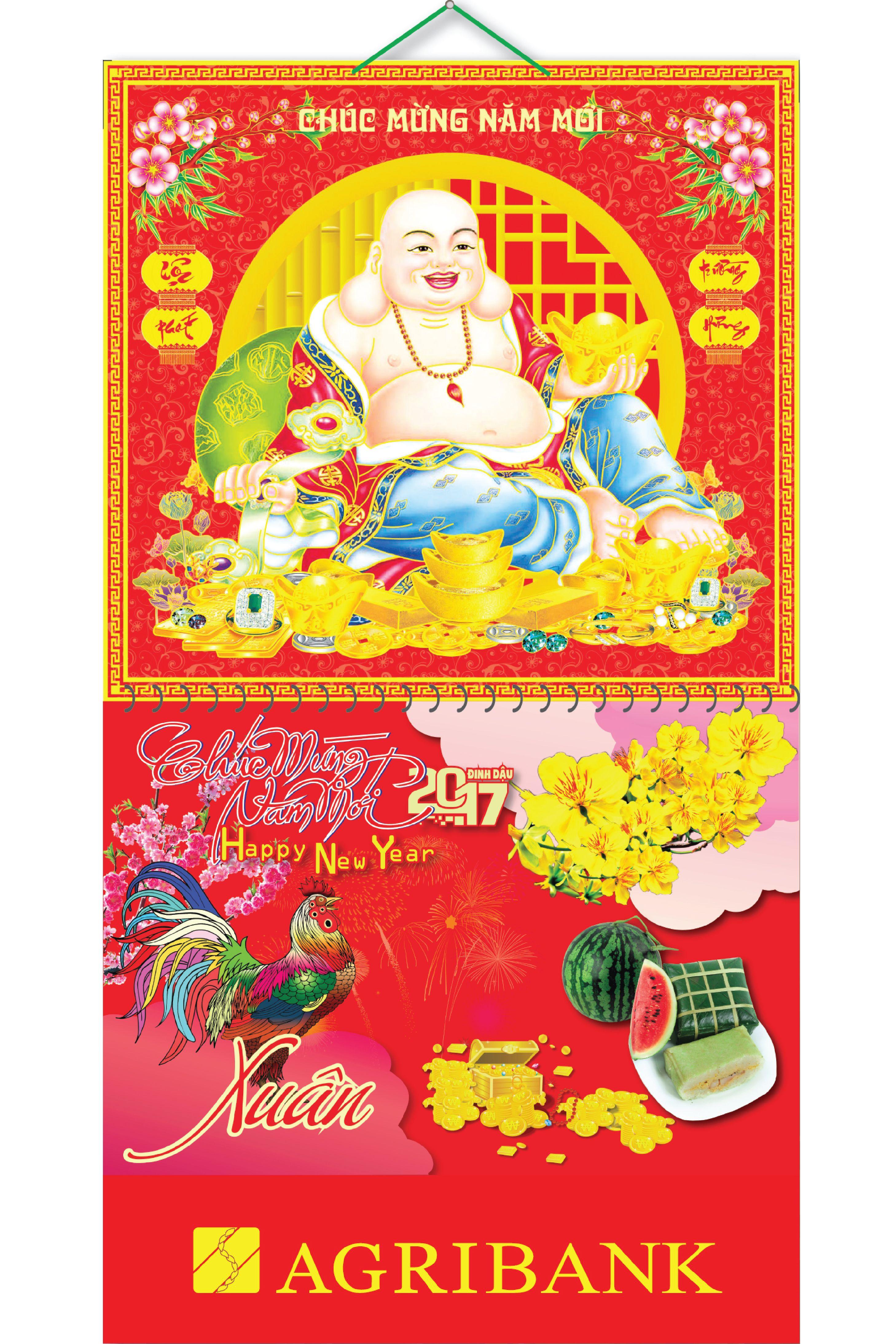 Bìa Treo Lịch 2017 Lò Xo Giữa Gắn Bộ Số Bế Nổi Phật Di Lặc KV.30 - EBOOK/PDF/PRC/EPUB