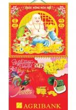 Bìa Treo Lịch 2017 Lò Xo Giữa Gắn Bộ Số Bế Nổi Phật Di Lặc KV.30