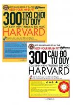 Combo 300 Câu Đố Tư Duy + 300 Trò Chơi Tư Duy Của Sinh Viên Trường Đại Học Harvard (Bộ 2 Cuốn)