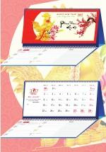 Lịch Để Bàn Chữ M 2017 - Phong Thủy May Mắn