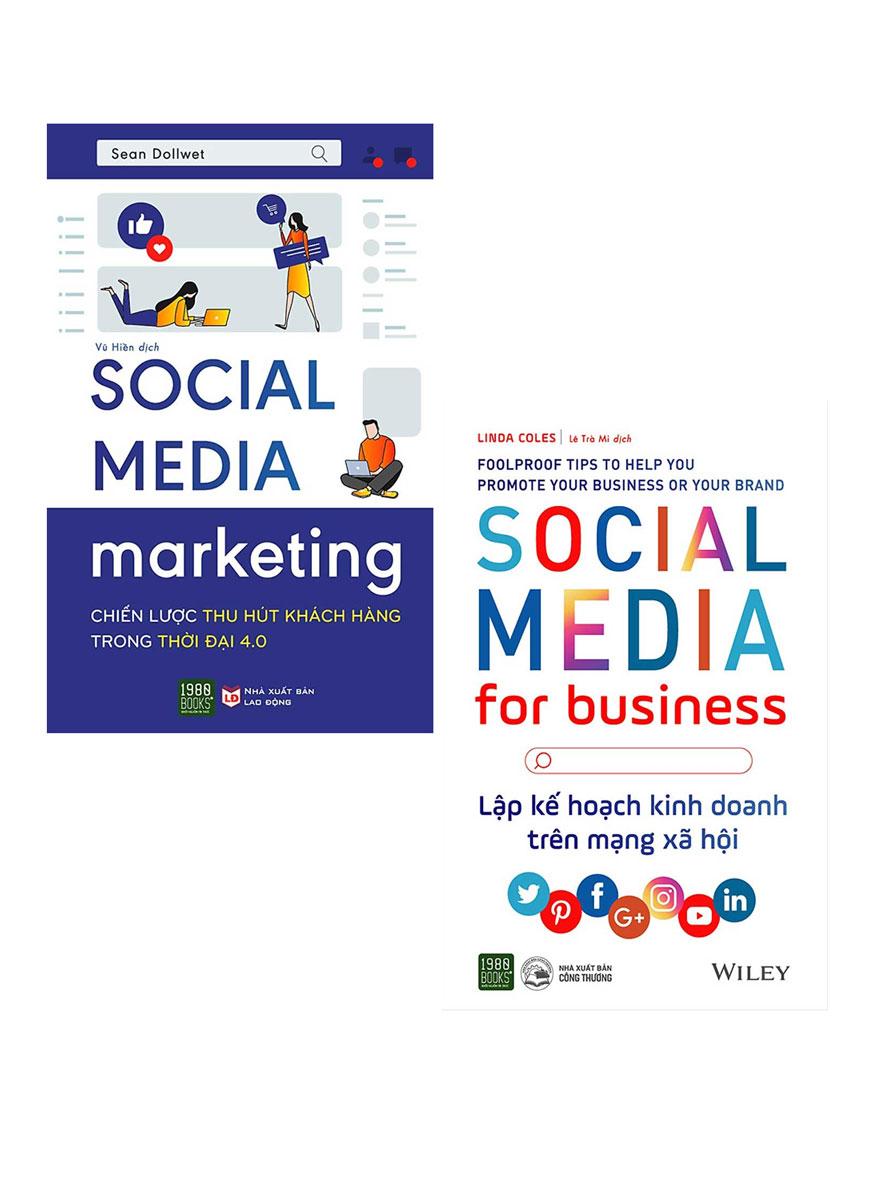 Combo Lập Kế Hoạch Kinh Doanh Trên Mạng Xã Hội + Social Media Marketing - Chiến Lược Thu Hút Khách Hàng Trong Thời Đại 4.0 (Bộ 2 Cuốn)