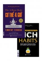 Combo Sách Hay Nhất Về Kĩ Năng Sống: Cơ Thể 4 giờ + Rich Habits - Thói Quen Thành Công Của Những Triệu Phú Tự Thân