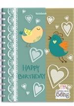 Notebook - Happy Birthday (Khổ 13.5 x 18 - Sổ Lò Xo)