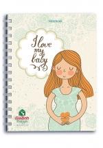 Notebook - I Love My Baby (Khổ 13.5 x 18 - Sổ Lò Xo)