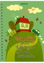 Notebook - Family Where Life Begins (Khổ 13.5 x 18 - Sổ Lò Xo)