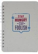 Notebook - Stay Hungry, Stay Foolish (Khổ 21 x 15 - Sổ Lò Xo)