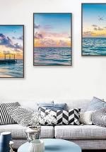 Tranh Treo Tường Phong Cảnh Biển Dịu Êm Sóng Vỗ