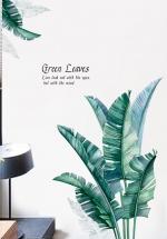 Decal Dán Tường Lá Xanh Green Leaves