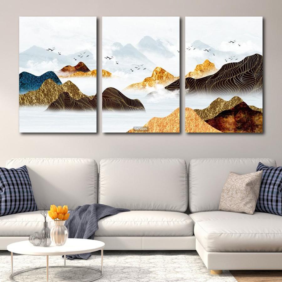 Tranh Treo Tường Phong Cảnh Núi Non Trùng Điệp 3