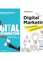 Combo Digital Marketing - Trên Thông Marketing, Dưới Tường Công Cụ Số + Digital Transformation - Chuyển Đổi Số (Bộ 2 Cuốn)