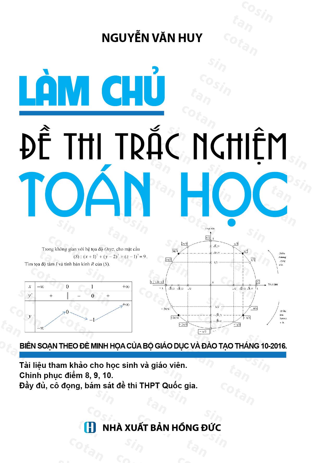 Làm Chủ Đề Thi Trắc Nghiệm Toán Học - EBOOK/PDF/PRC/EPUB
